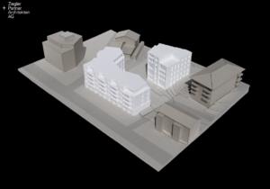 Architekturmodell, Siedlung, Quartier