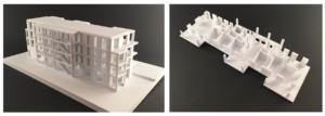 Architketurmodell, einzelne Etage, Wohnhaus, Präsentation
